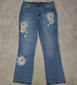 Beautuful Diane Gilman DG2 dazzled denim Jeans
